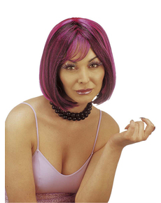 Roze pruik Kimberly voor vrouwen