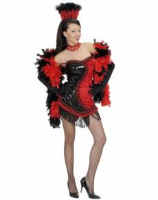 Vegas cabaret kostuum voor vrouwen